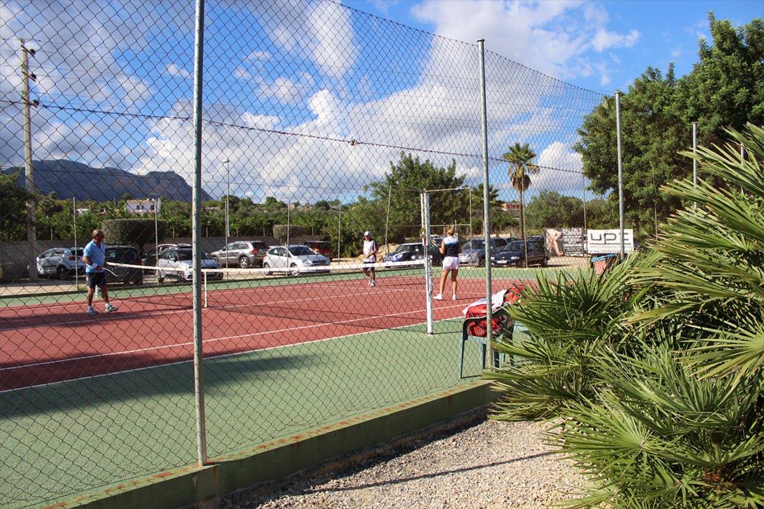 Hard court no 5 tennis benidorm finca guila